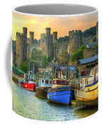 Conwy Castle And Harbour Coffee Mug