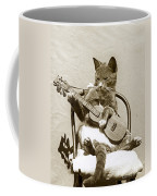 Cool Cat Playing A Guitar Circa 1900 Historical Photo By Photo  Henry King Nourse Coffee Mug