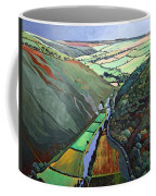 Coombe Valley Gate, Exmoor, 2009 Acrylic On Canvas Coffee Mug