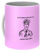 Cop Kicking Ass In Pink Coffee Mug