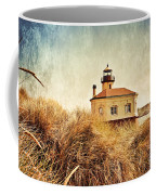 Coquille River Lighthouse - Texture Coffee Mug