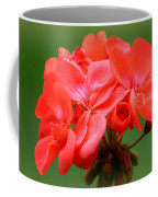 Coral Geraniums Coffee Mug