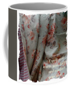 Coral Rose Quilt With Quote Coffee Mug