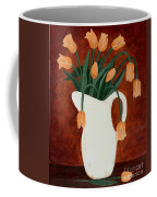 Coral Tulips In A Milk Pitcher Coffee Mug