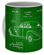 Cord Automobile Patent 1934 - Green Coffee Mug