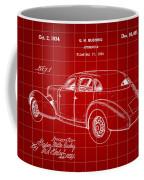 Cord Automobile Patent 1934 - Red Coffee Mug