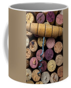 Corkscrew On Top Of Wine Corks Coffee Mug by Garry Gay