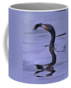 Cormorant Catch Reflection Beauty Coffee Mug