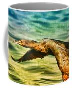 Cormorant On The Move Coffee Mug