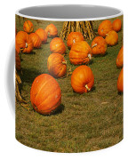 Corn Plants With Pumpkins In A Field Coffee Mug
