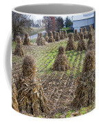 Corn Shocks Amish Field Coffee Mug