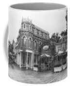 Corner Cafe Main Street Disneyland Bw Coffee Mug