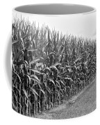 Cornfield Black And White Coffee Mug