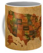 Corporate America Map Coffee Mug