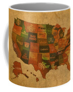 Corporate America Map Coffee Mug