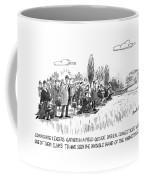 Corporate Leaders Gather In A Field Coffee Mug by Dana Fradon
