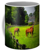 Corralled Horses - Featured In And Lets All Participate And Abc Groups Coffee Mug