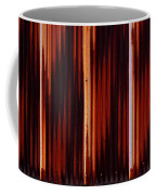 Corrugated Patterns In Orange And Black Coffee Mug