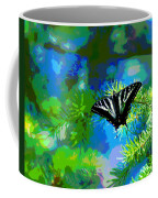 Cosmic Butterfly In The Pines Coffee Mug