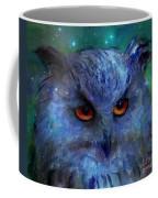Cosmic Owl Painting Coffee Mug