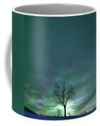 Cosmic Sky Winter Tree Coffee Mug