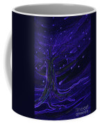 Cosmic Tree Blue Coffee Mug