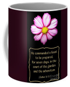 Cosmos Flower With Bible Quote From Esther Coffee Mug