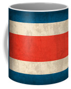 Costa Rica Flag Vintage Distressed Finish Coffee Mug