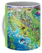 Costa Rica Map Illustration Coffee Mug