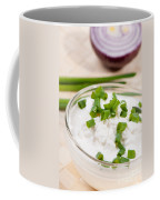 Glass Bowl Of Cottage Cheese With Chives  Coffee Mug