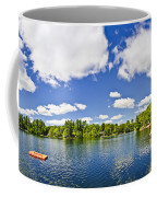 Cottage Lake With Diving Platform And Dock Coffee Mug by Elena Elisseeva