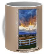 Country Beams Of Light Pealing Picture Window Frame Vie Coffee Mug