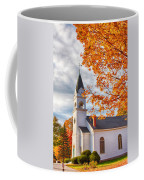 Country Church Under Fall Colors Coffee Mug