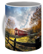 Country Covered Bridge Coffee Mug by Debra and Dave Vanderlaan