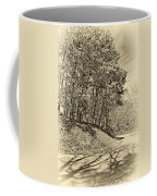 Country Curves And Vultures Sepia          Coffee Mug