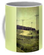 Country Dirt Road And Telephone Poles Coffee Mug