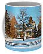 Country Home Watercolor Coffee Mug