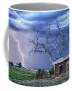 Country Horses Lightning Storm Ne Boulder County Co Hdr Coffee Mug by James BO  Insogna