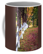 Country Lane Fall Foliage Vermont Coffee Mug