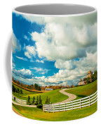 Country Living Painted Coffee Mug