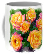 Country Roses Watercolor Coffee Mug