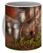Country - Some Dented Pails And An Old Wheel  Coffee Mug