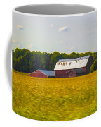 Countryside Landscape With Red Barns Coffee Mug