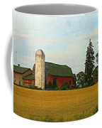 County Barn - Digital Painting Effect Coffee Mug