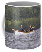 Couple Boating On Lake, Maine, Usa Coffee Mug