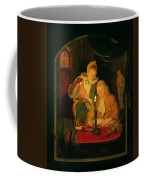 Couple Counting Money By Candlelight, 1779 Panel Coffee Mug