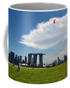 Couple Flies Kite Marina Bay Sands Singapore Coffee Mug