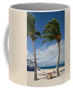 Couple In Hammock On Beach Coffee Mug by Amy Cicconi