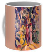 Couple On The Forest Track Coffee Mug