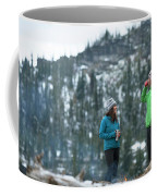 Couple Standing By A Campfire Coffee Mug